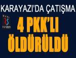 Erzurum'un Karayazı ilçesinde sıcak çatışma... 4 terörist öldürüldü...