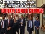 İYİ Parti Milletvekili aday adayları Canan Uçar ve Melih Kırkpınar ilçe gezilerini sürdürüyor