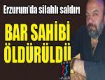 Erzurum'da cinayet..