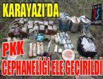 Karayazı'da PKK cephaneliği ele geçirildi...