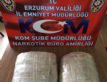 Erzurum'da 4 kilo 100 gram esrar ele geçirildi...