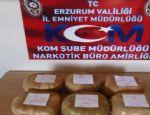 Erzurum'da 5 kilo 922 gram toz esrar maddesi ele geçirildi
