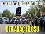 Erzurum Büyükşehir Belediyesi'nden dev araç filosu