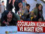 Erzurum'da çocukların kızak ve misket keyfi