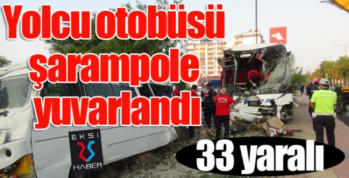 Yolcu otobüsü şarampole yuvarlandı: 33 yaralı...