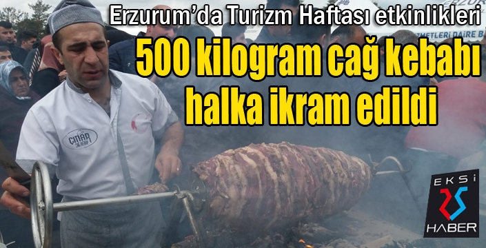 500 kilogram cağ kebabı halka ikram edildi...