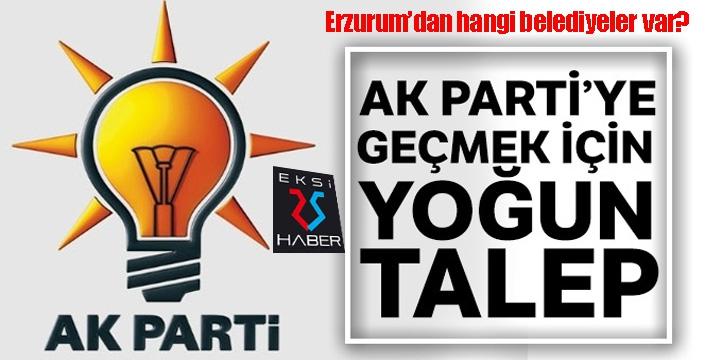 AK Parti'ye geçmek için yoğun talep