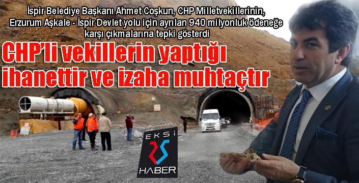 Başkan Coşkun: CHP ve yol arkadaşları HDP li vekillerin yaptığı ihanettir...