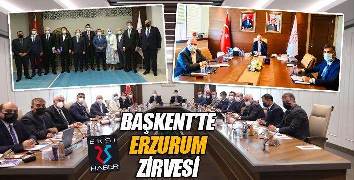 Başkent'te Erzurum zirvesi