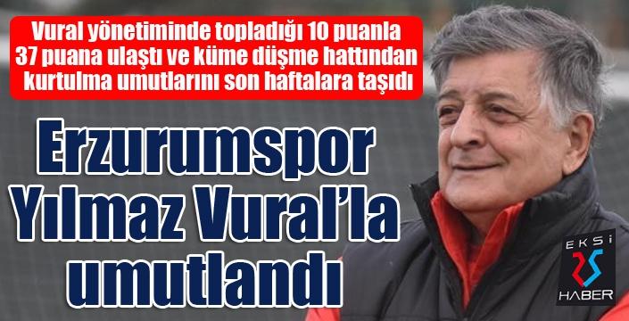 BB Erzurumspor, Yılmaz Vural'la umutlandı