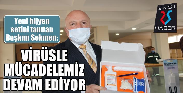 Büyükşehir Belediye Başkanı Mehmet Sekmen yeni hijyen setini tanıttı