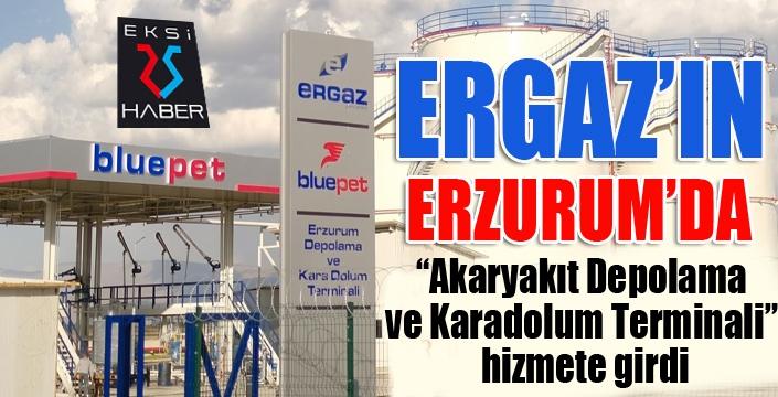 """Ergaz'ın Akaryakıt Depolama ve Karadolum Terminali"""" hizmete girdi"""