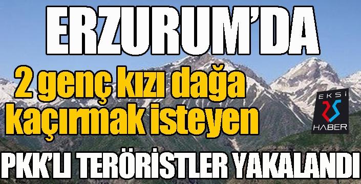 Erzurum'da 2 genç kızı dağa kaçırmak isteyen PKK'lı teröristler yakalandı
