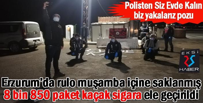 Erzurum'da 8 bin 850 paket sigara ele geçirildi