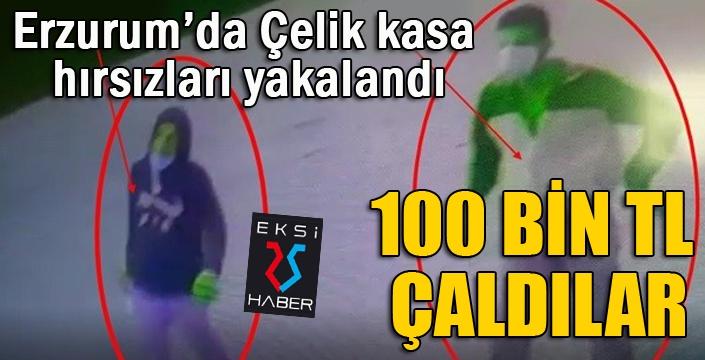 Erzurum'da çelik kasa hırsızları yakalandı...
