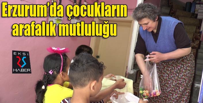 """Erzurum'da çocukların """"Arafalık"""" mutluluğu"""