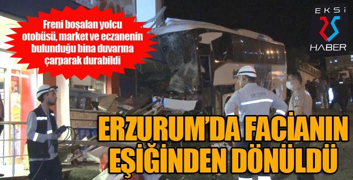 Erzurum'da facianın eşiğinden dönüldü...