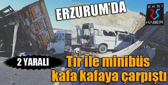 Erzurum'da feci kaza: 2 yaralı...
