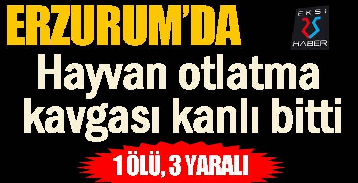 Erzurum'da hayvan otlatma kavgası kanlı bitti: 1 ölü, 3 yaralı
