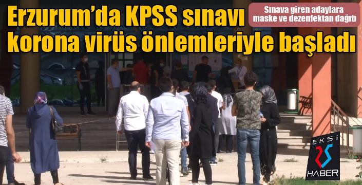 Erzurum'da KPSS sınavı korona virüs önlemleriyle başladı