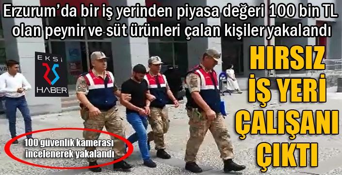 Erzurum'da peynir hırsızları 100 güvenlik kamerası incelenerek yakalandı