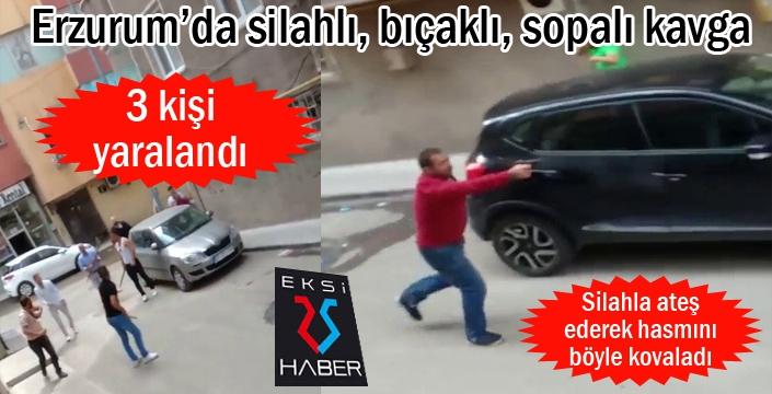 Erzurum'da silahlı, bıçaklı, sopalı kavga: 3 yaralı