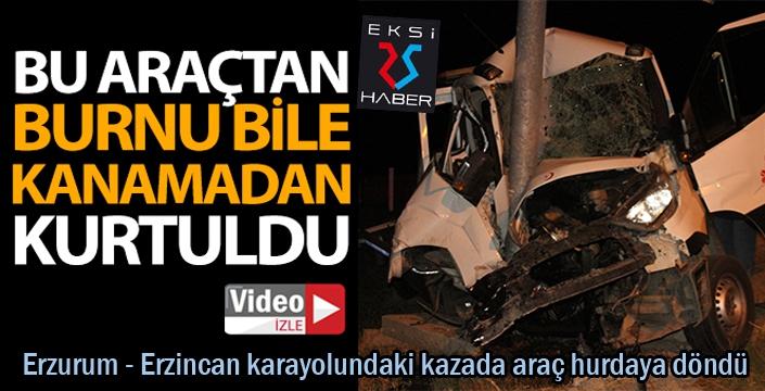Erzurum - Erzincan karayolunda feci kaza...