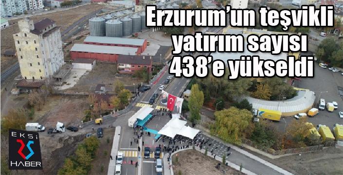 Erzurum'un teşvikli yatırım sayısı 438'e yükseldi
