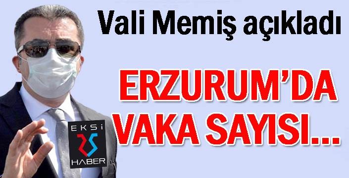 Erzurum Valisi Memiş, Covid-19 vaka sayısındaki artışı değerlendirdi