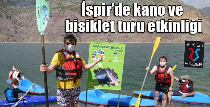 İspir'de kano ve bisiklet turu etkinliği
