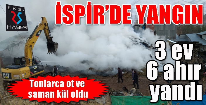 İspir'de yangın...