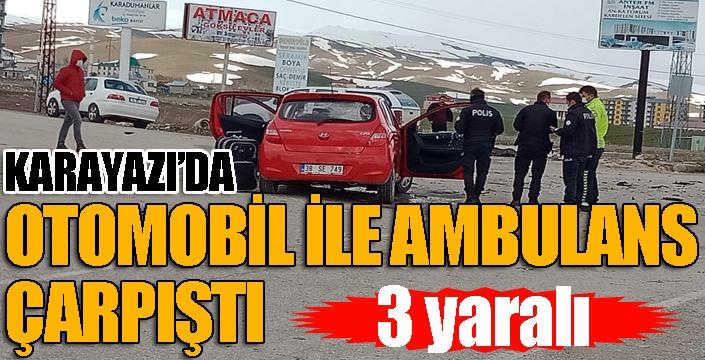 Karayazı'da trafik kazası: 3 yaralı