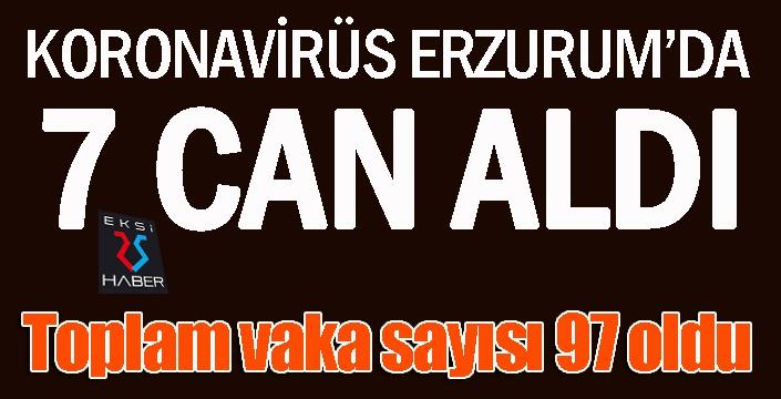 Koronavirüs Erzurum'da 7 can aldı...