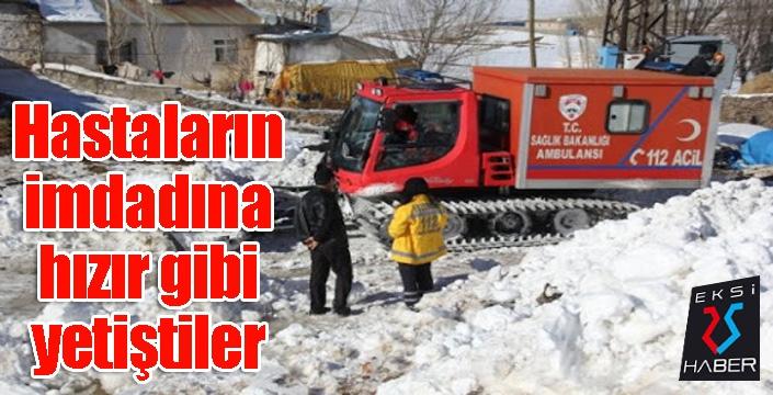 Köylerde mahsur kalan 194 hasta kar üstü araçlarla kurtarıldı