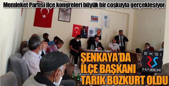 Memleket Partisi Şenkaya İlçe Başkanı Tarık Bozkurt oldu...
