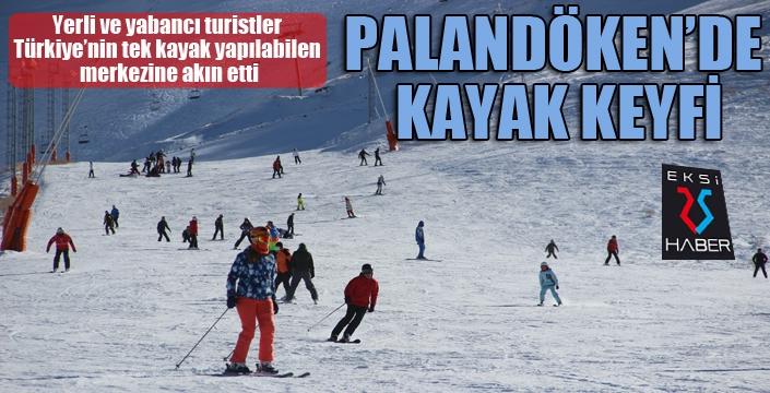 Palandöken'de kayak keyfi...